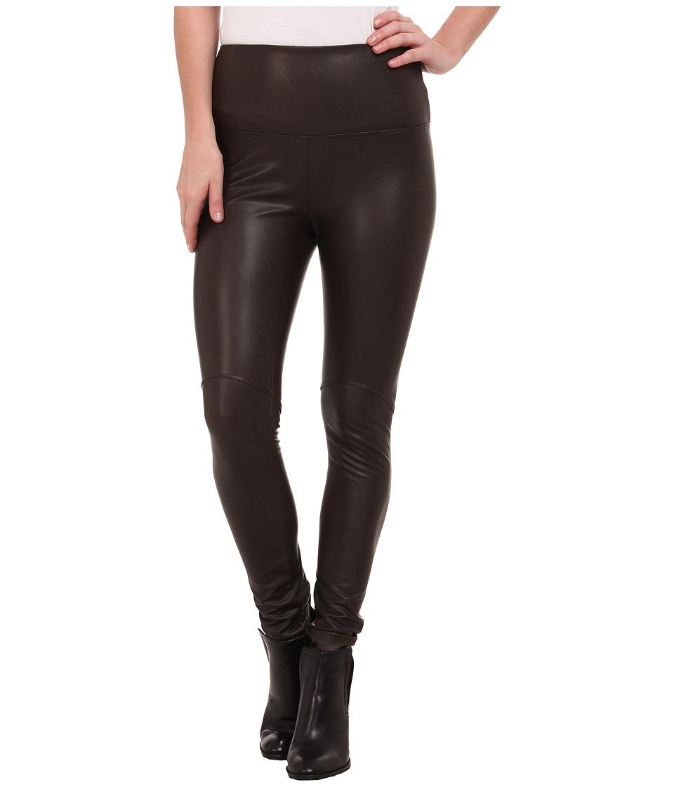 Lysse - Vegan Leather Leggings (Espresso) Women's Casual Pants