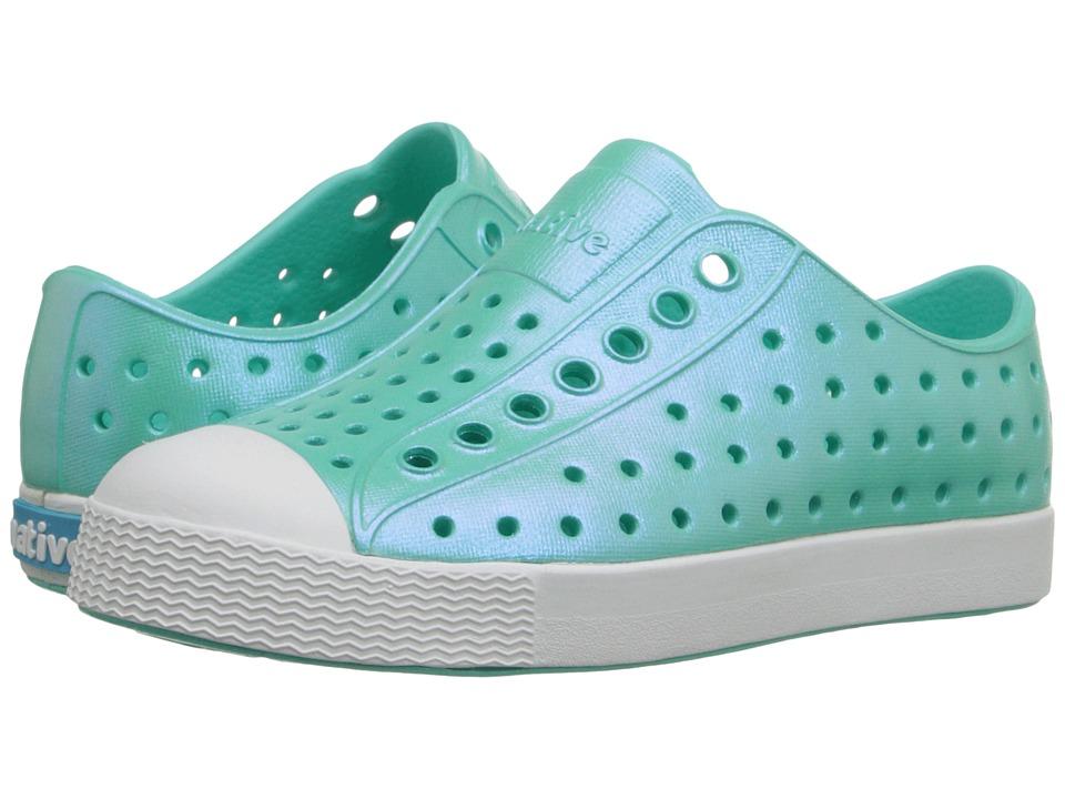 Native Kids Shoes Jefferson Toddler/Little Kid Atlantis Blue Iridescent Girls Shoes
