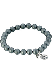Chan Luu - 7 1/2' Matte Hematine Stretchy Single Bracelet