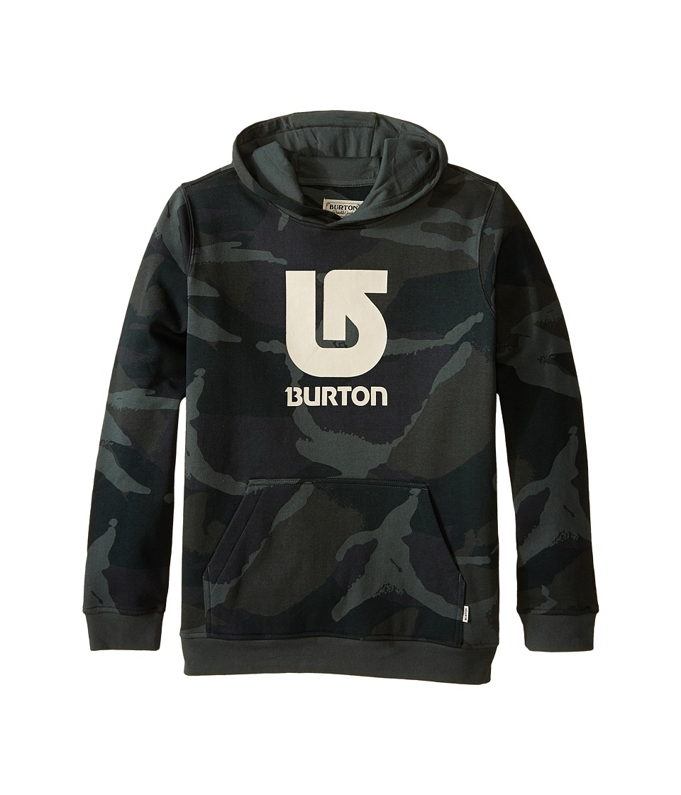 Burton Kids Logo Vertical Pullover Hoodie Big Kids Beetle Derby Camo Boys Sweatshirt