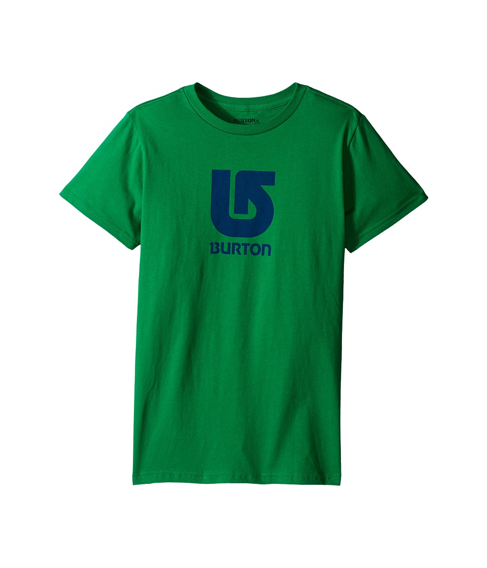Burton Kids Logo Vertical S/S Tee Big Kids Kelly Green Boys Short Sleeve Pullover