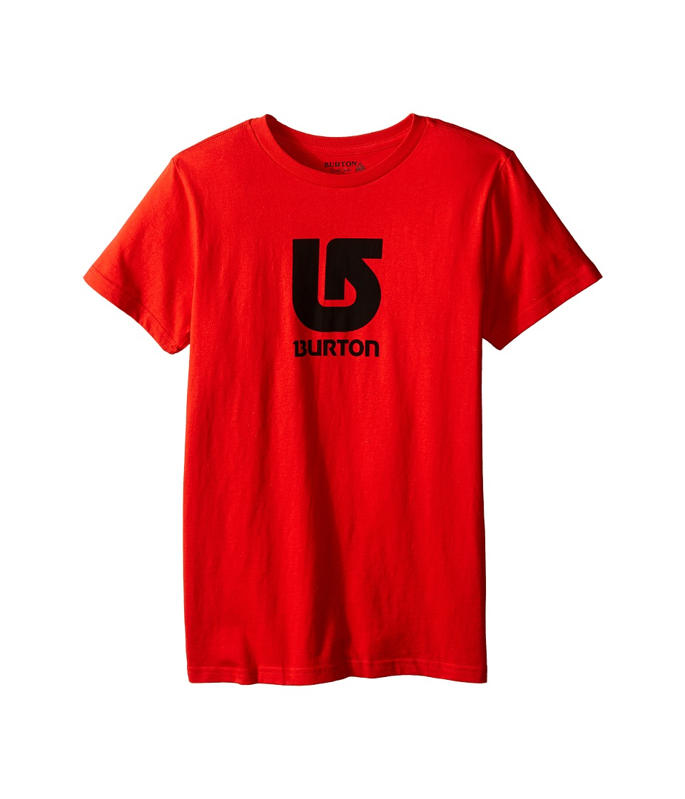 Burton Kids Logo Vertical S/S Tee Big Kids Red Boys Short Sleeve Pullover