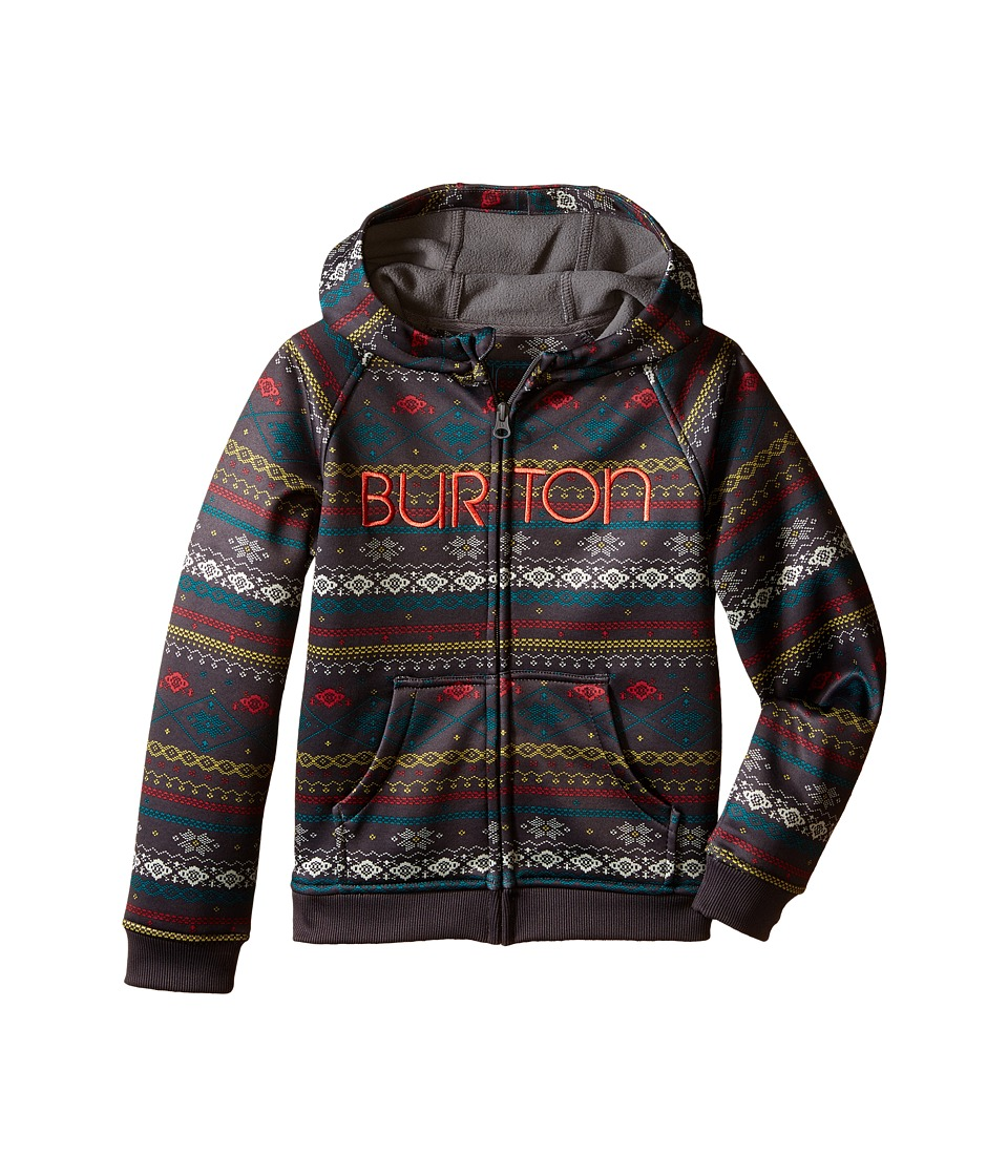 Burton Kids Mini Scoop Hoodie Toddler/Little Kids Dark Ash Ditsy Fairisle Girls Sweatshirt