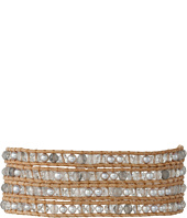Chan Luu - 32' Grey Pearl Crystal Wrap Bracelet
