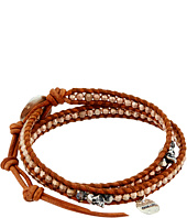 Chan Luu - 12 1/2' Rose Gold Double Wrap Skull Charm Bracelet