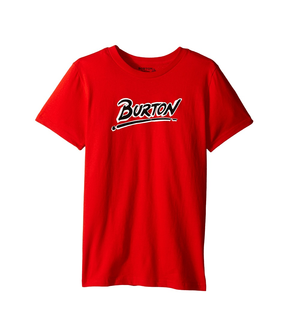 Burton Kids Big Up Short Sleeve Tee Big Kids Red Boys Short Sleeve Pullover