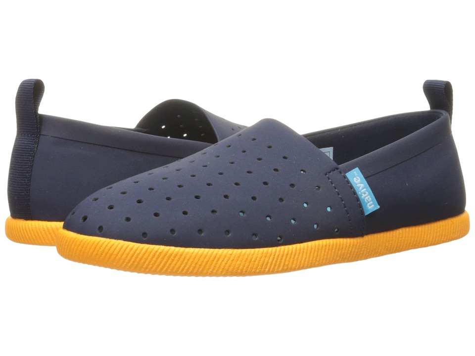 Native Kids Shoes Venice (Toddler/Little Kid) (Regatta Blue/Begonia Orange) Kid's Shoes