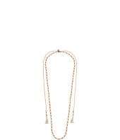 Chan Luu - 41' White Pearl/Beige Necklace with Lariat