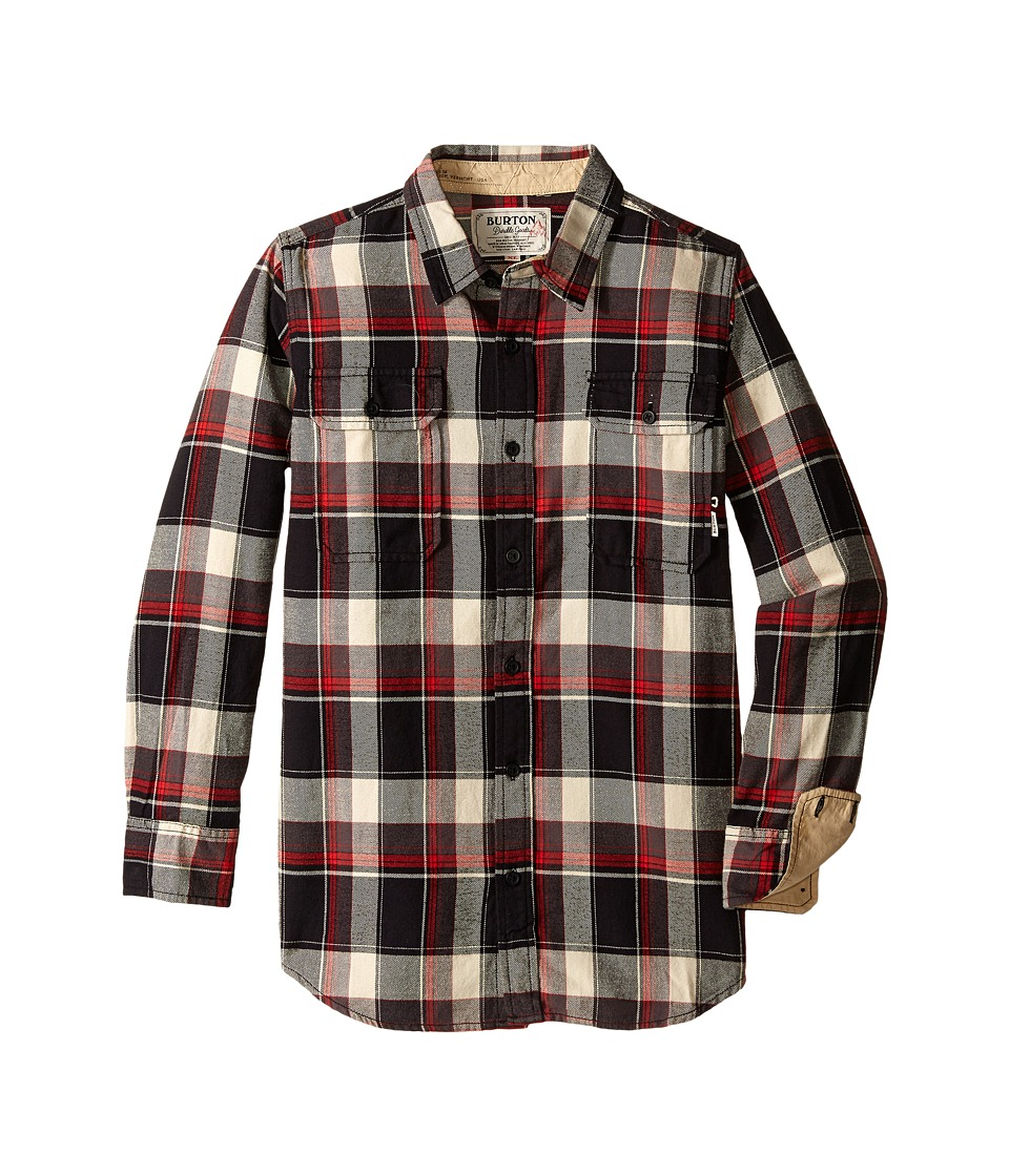 Burton Kids Brighton Flannel Little Kids/Big Kids True Black Impulse Boys Long Sleeve Button Up