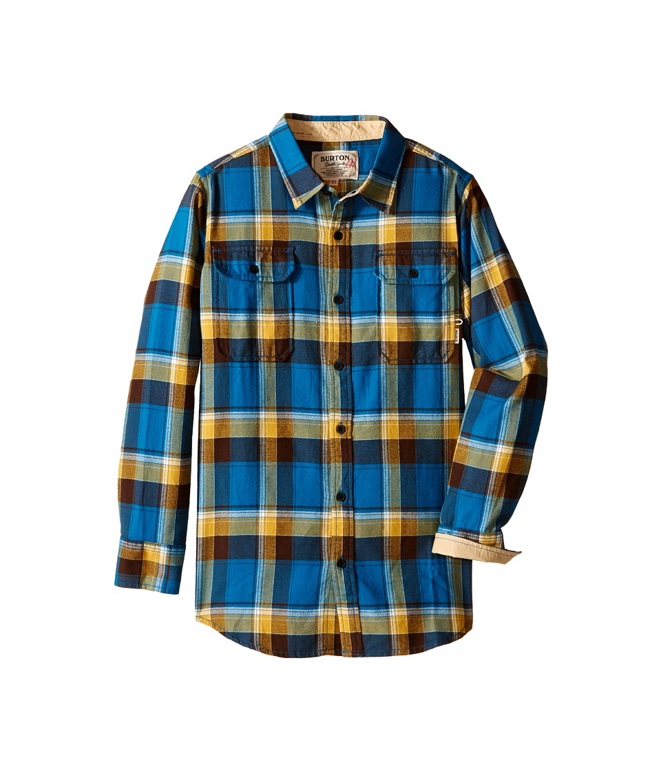 Burton Kids Brighton Flannel Little Kids/Big Kids Glacier Blue Impulse Boys Long Sleeve Button Up