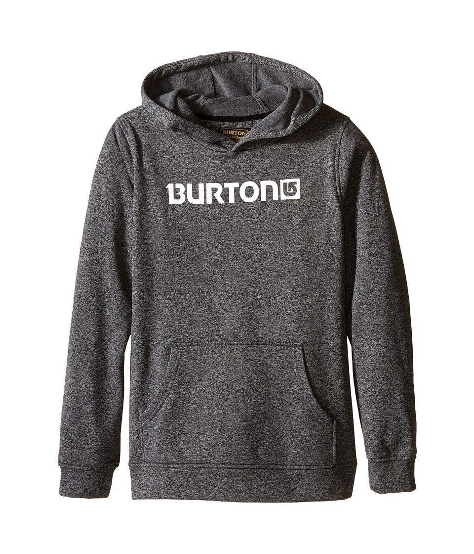Burton Kids Oak Pullover Hoodie Little Kids/Big Kids True Black/Dark Ash Heather Boys Sweatshirt