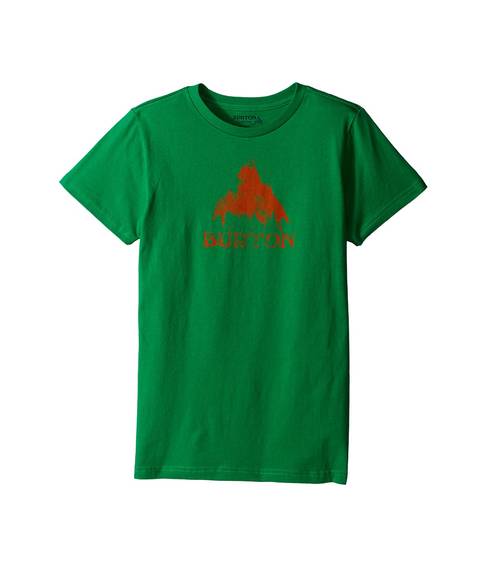 Burton Kids Stamped Mountain Short Sleeve Tee Big Kids Kelly Green Boys Short Sleeve Pullover
