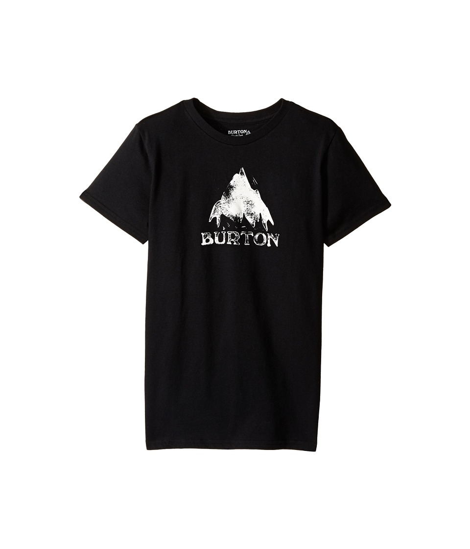 Burton Kids Stamped Mountain Short Sleeve Tee Big Kids True Black Boys Short Sleeve Pullover