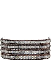 Chan Luu - 32' Abalone/Kansa Semi Precious Stone Wrap Bracelet