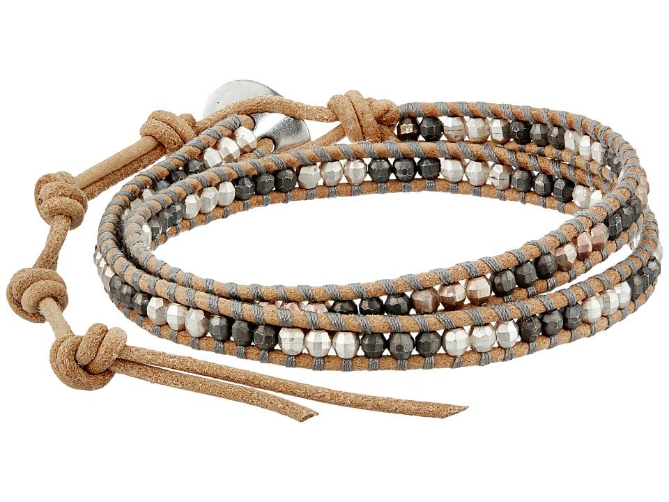 Chan Luu 13 Nugget/Beige Double Wrap Bracelet Beige Bracelet