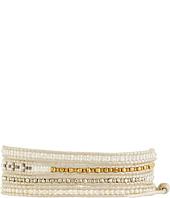 Chan Luu - 32' White Pearl Seed Bead Mix Wrap Bracelet