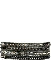 Chan Luu - 32' Matte Hematine Seed Bead Mix Wrap Bracelet