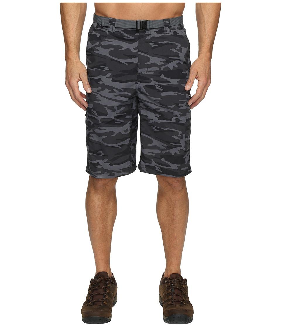 Columbia Silver Ridge Printed Cargo Short (Black Camo) Men