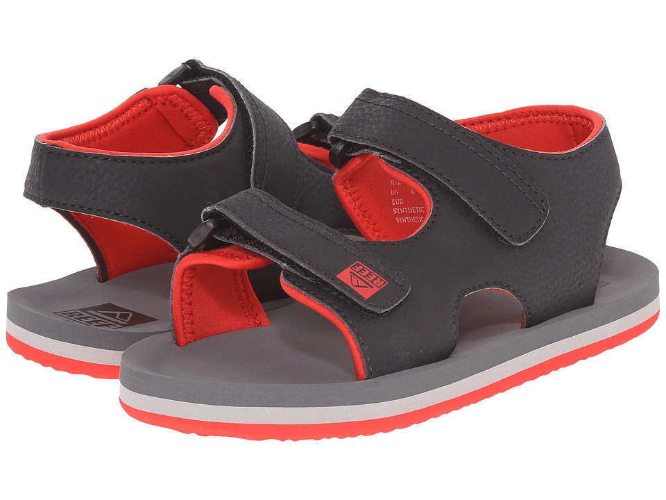 Reef Kids Grom Stomper Infant/Toddler/Little Kid/Big Kid Charcoal/Red Boys Shoes