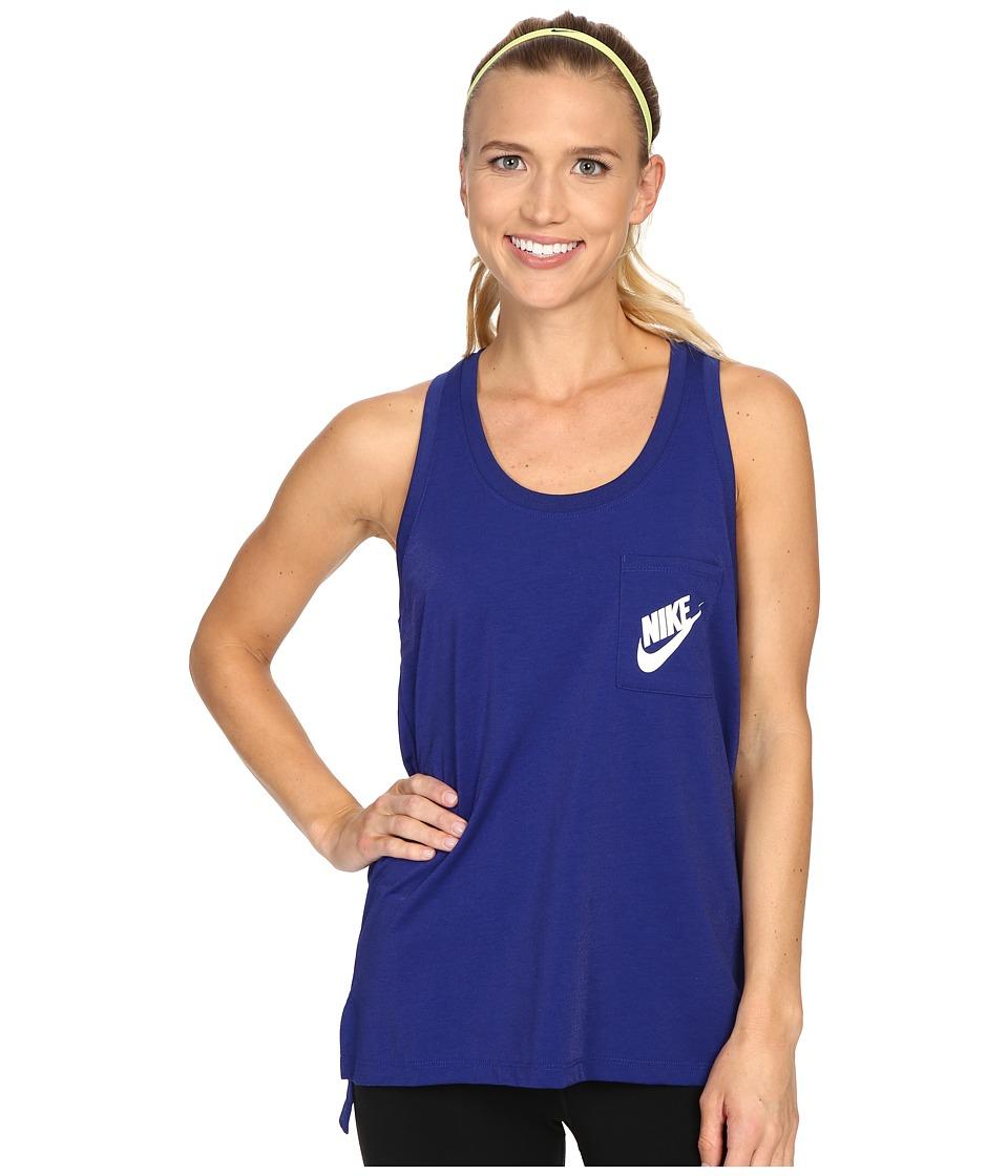 Nike Signal Tank Top Deep Royal Blue/Deep Royal Blue/White Womens Sleeveless