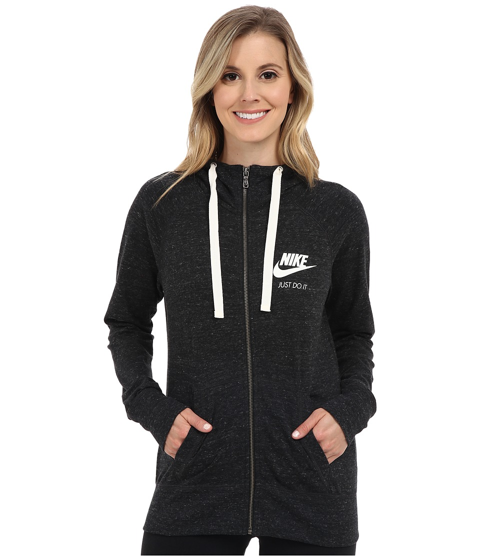 Nike Gym Vintage Full Zip Hoodie (Black/Sail) Women