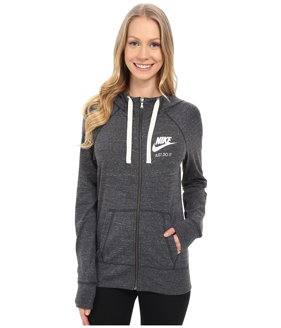 Nike Gym Vintage Full Zip Hoodie (Anthracite/Sail) Women