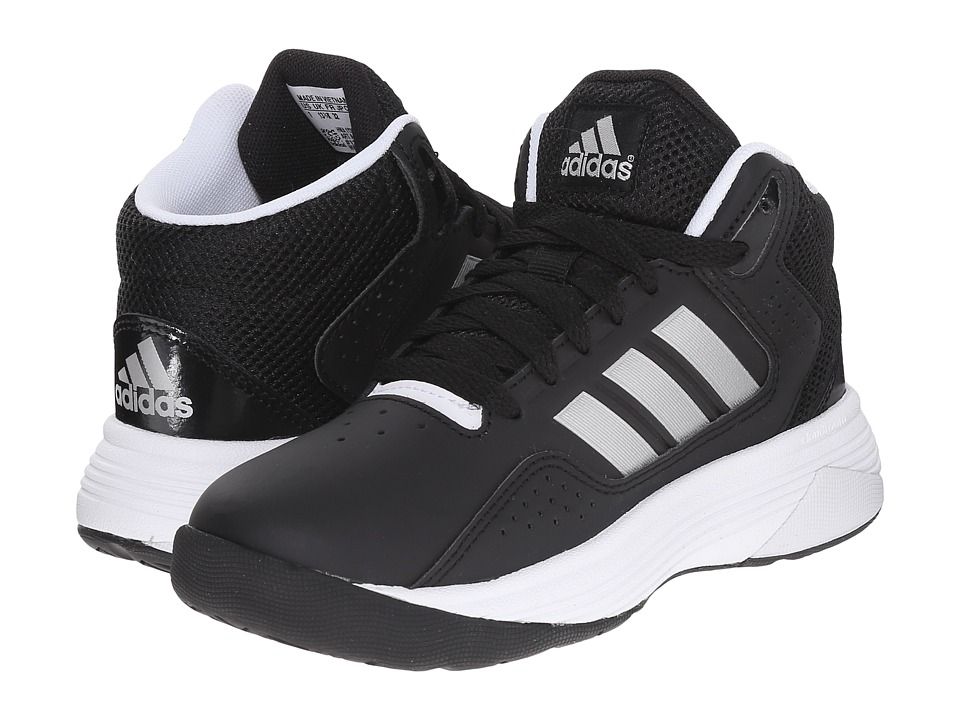 adidas Kids Cloudfoam Ilation Basketball (Little Kid/Big Kid) (Core Black/Matte Silver/White) Boys Shoes