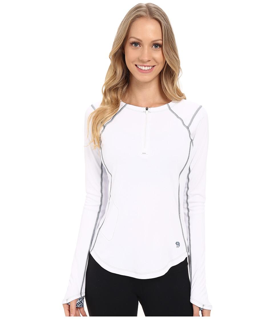 Mountain Hardwear River Gorge Long Sleeve Tee White Womens Long Sleeve Pullover
