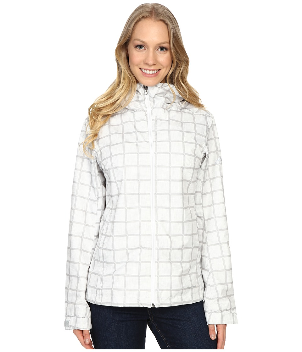 adidas Outdoor Al Outdoor 2L Wandertag AOP Jacket White Womens Coat