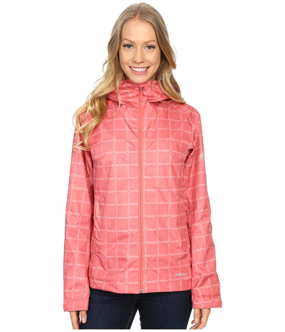 adidas Outdoor Al Outdoor 2L Wandertag AOP Jacket Super Blush Womens Coat
