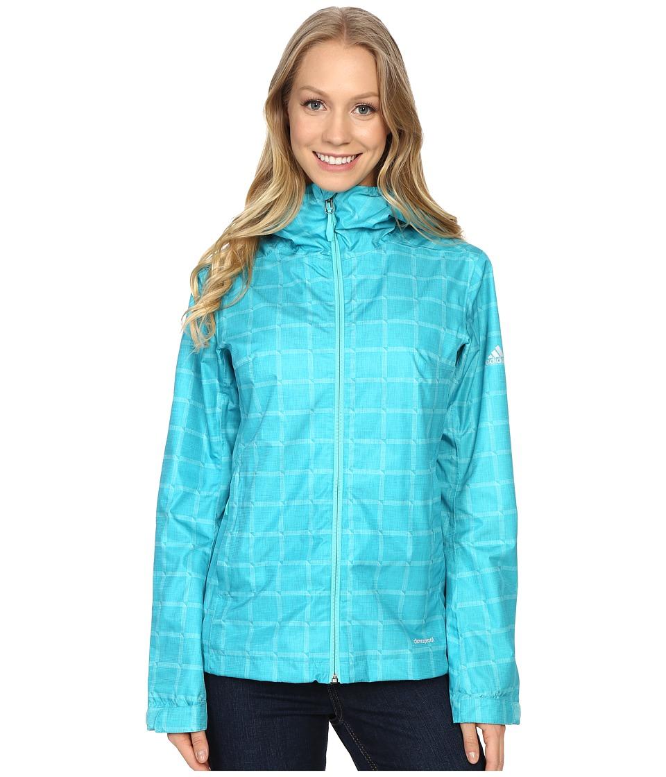 adidas Outdoor Al Outdoor 2L Wandertag AOP Jacket Vivid Mint Womens Coat
