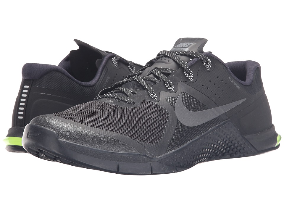Nike - Metcon 2 (Black/Dark Grey/Volt/Black) Men