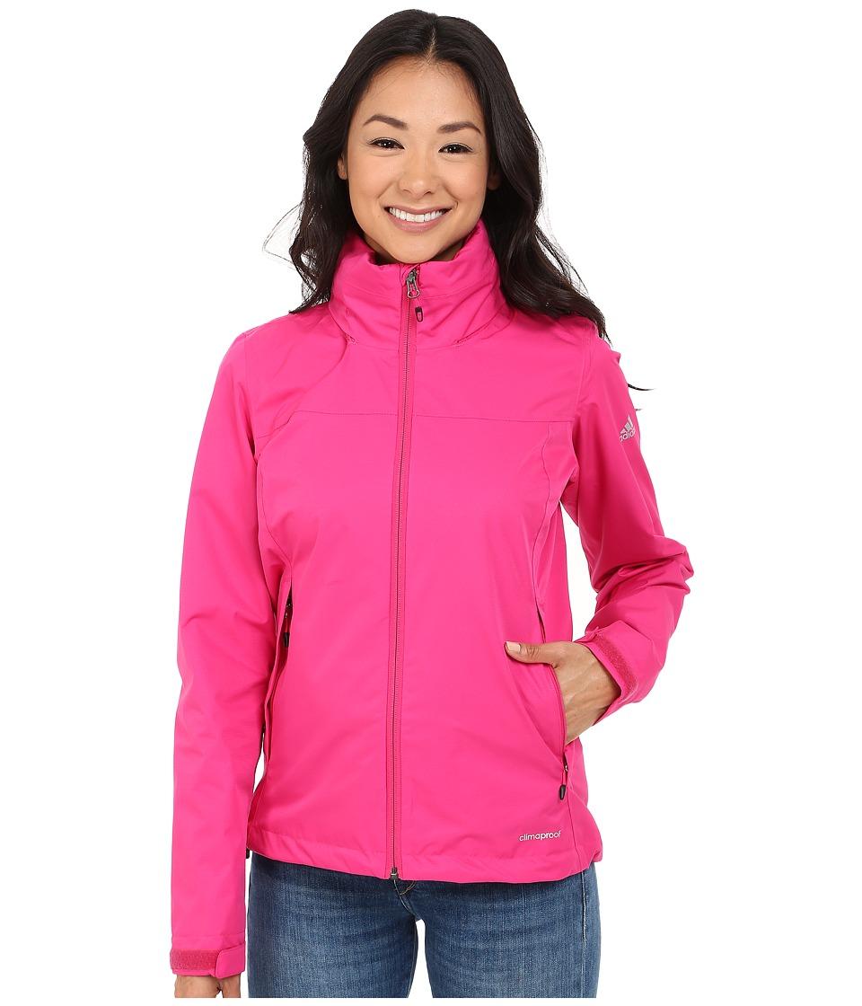 adidas Outdoor All Outdoor 2L Wandertag Solid Jacket EQT Pink Womens Coat