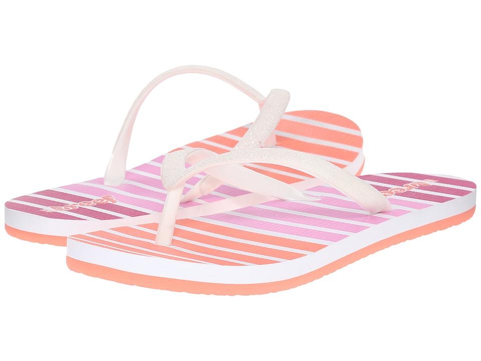 Reef Kids Little Stargazer Prints Infant/Toddler/Little Kid/Big Kid Coral Stripe Girls Shoes