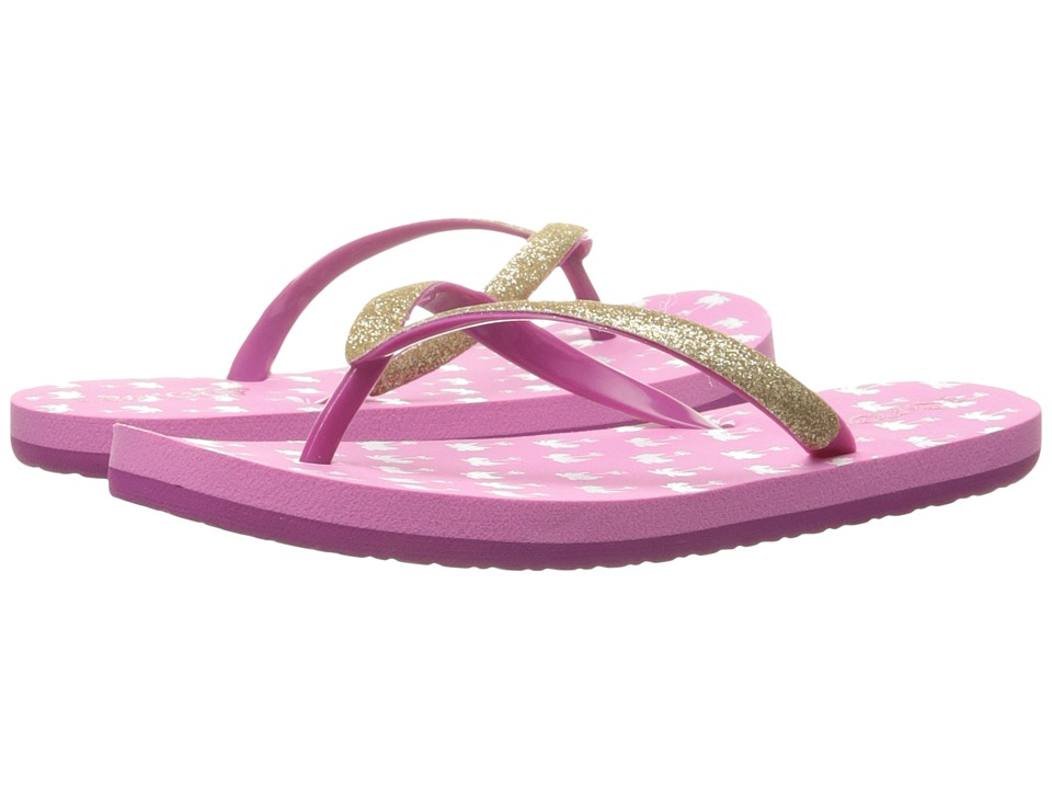 Reef Kids Little Stargazer Prints Infant/Toddler/Little Kid/Big Kid Pink Palms Girls Shoes
