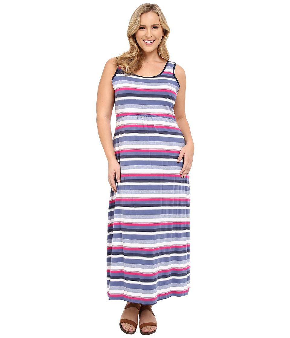 Columbia Plus Size Reel Beauty II Maxi Dress Bluebell Multi Stripe Womens Dress