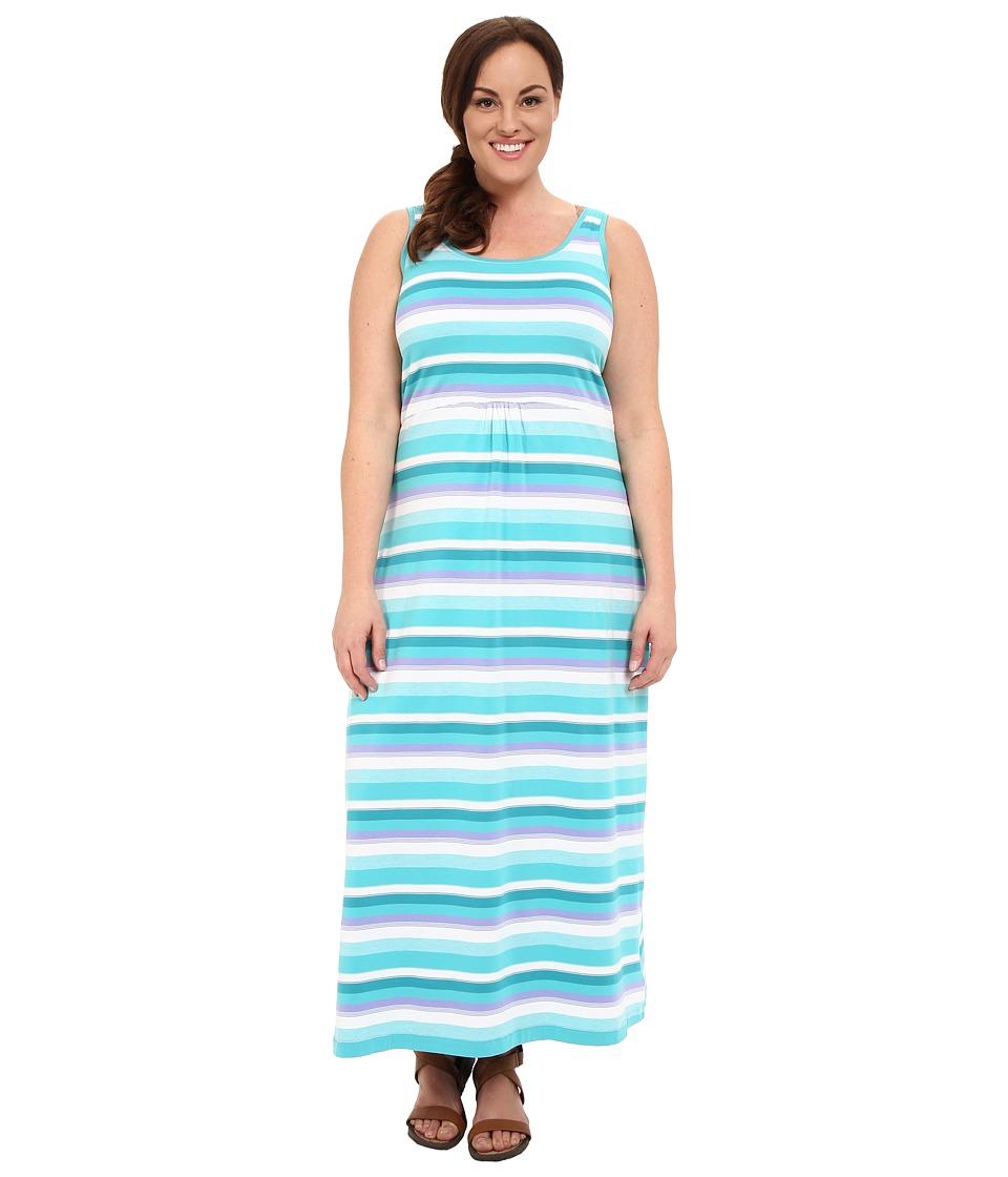 Columbia Plus Size Reel Beauty II Maxi Dress Miami Multi Stripe Womens Dress