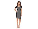 Sonya Grid Jacquard Dress
