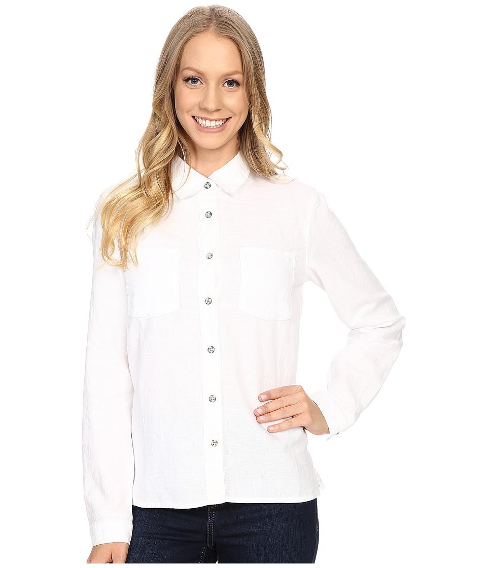 Mountain Hardwear Bridger Long Sleeve Shirt White Womens Long Sleeve Button Up