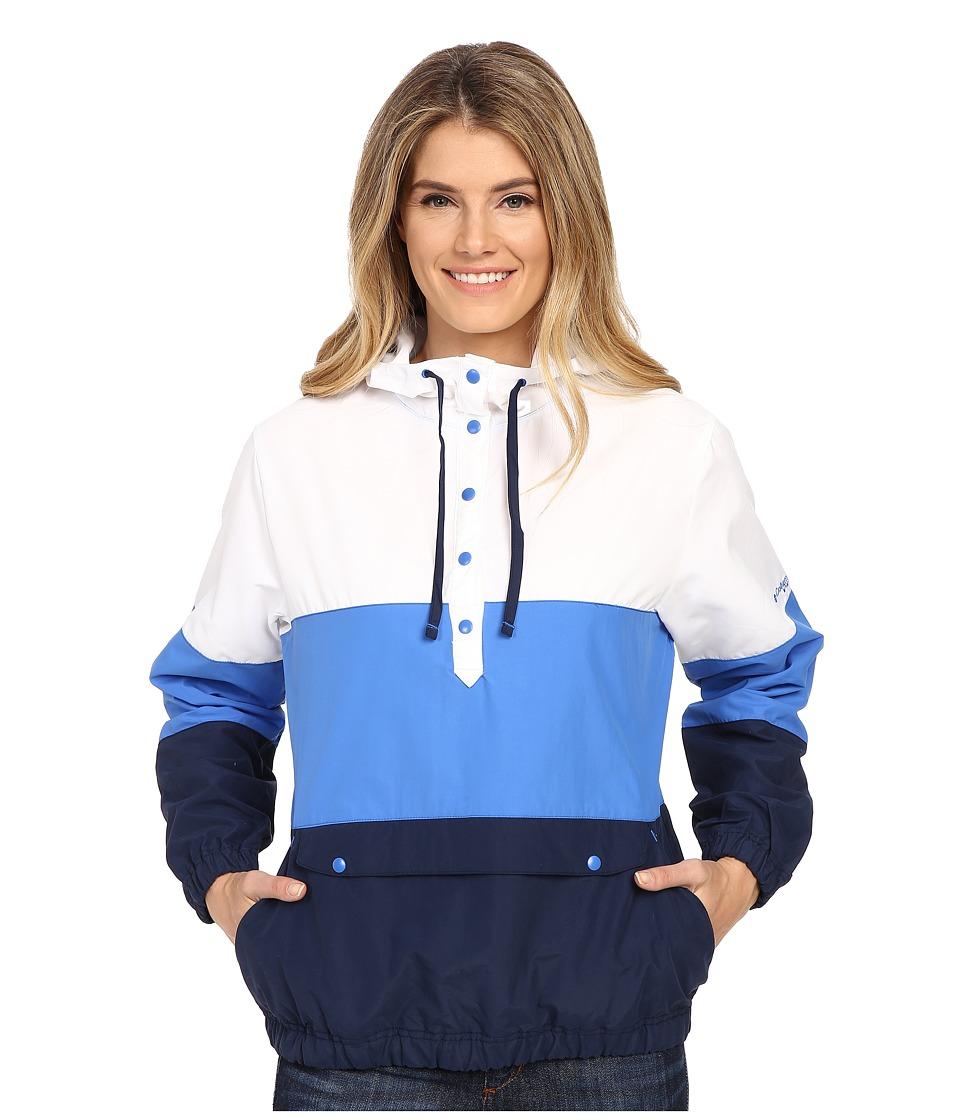 Columbia Harborside Windbreaker Stormy Blue/White/Collegiate Navy Womens Long Sleeve Pullover