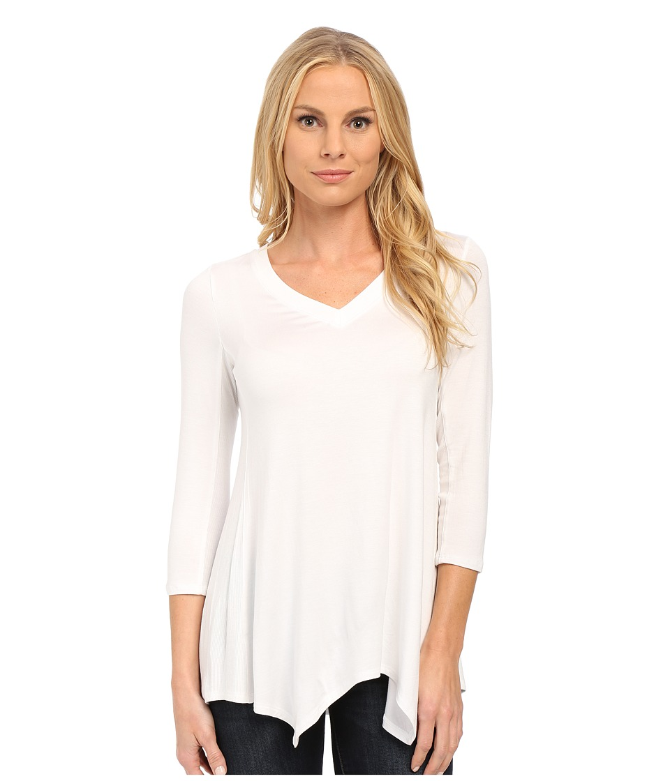 NYDJ - Novelty Scarf Hem Top (Optic White) Women