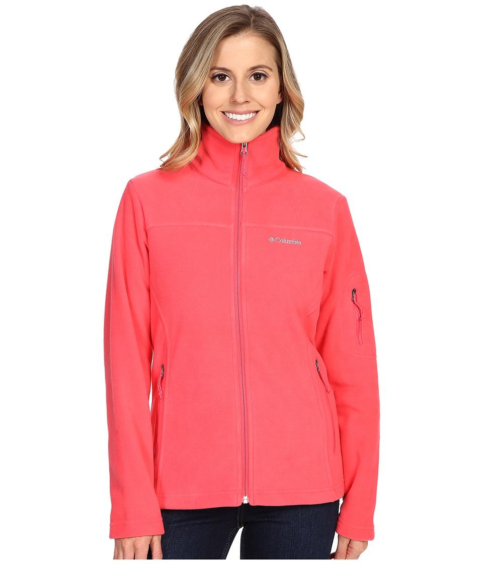 Columbia - Fast Trek II Full-Zip Fleece Jacket (Bright Geranium) Women