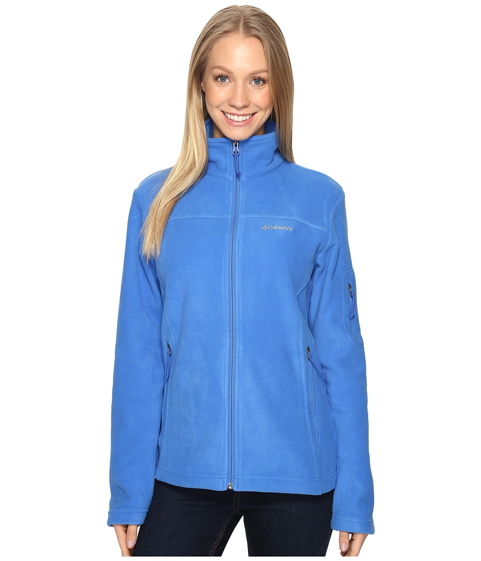 Columbia Fast Trek II Full-Zip Fleece Jacket (Stormy Blue) Women