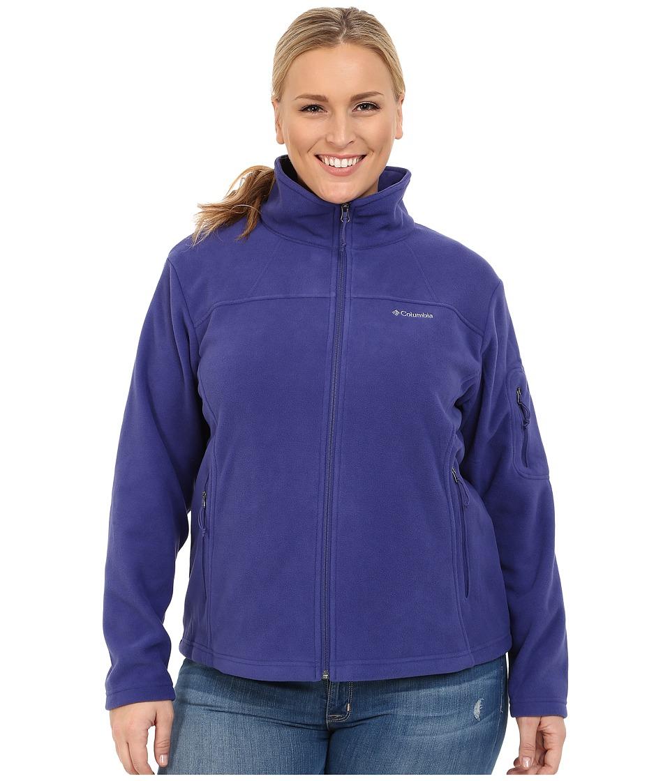 Columbia - Plus Size Fast Trek II Full Zip Fleece Jacket (Skyward) Women
