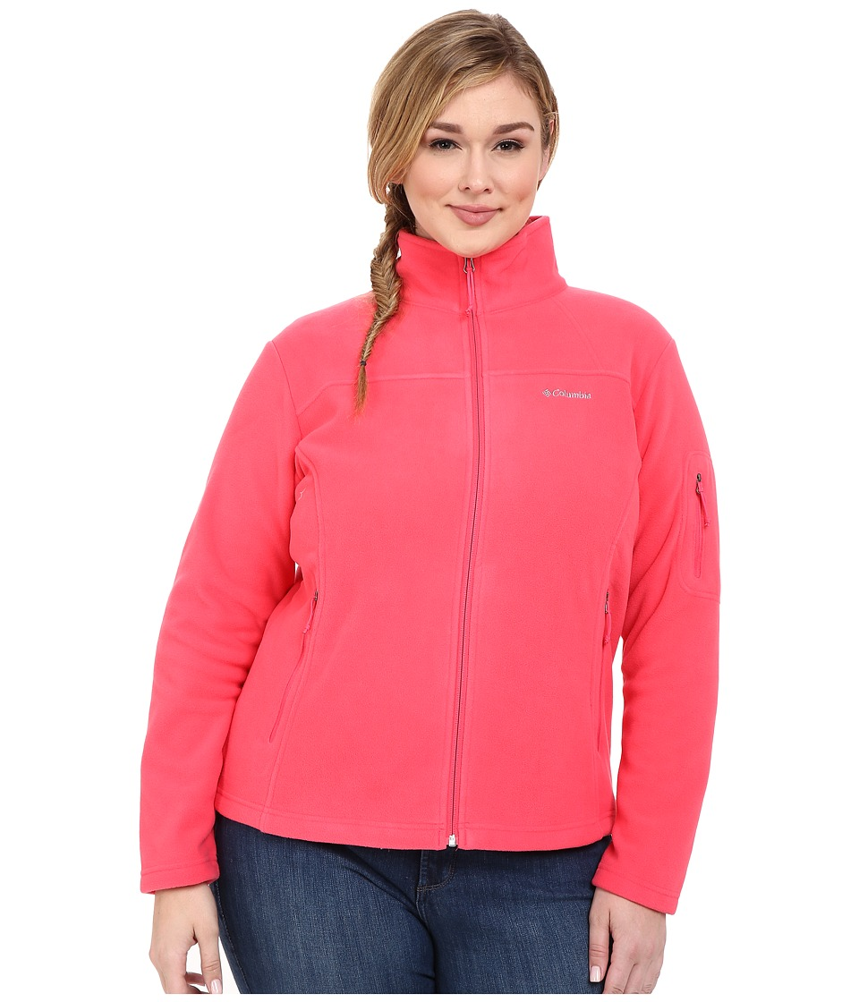 Columbia - Plus Size Fast Trek II Full Zip Fleece Jacket (Bright Geranium) Women