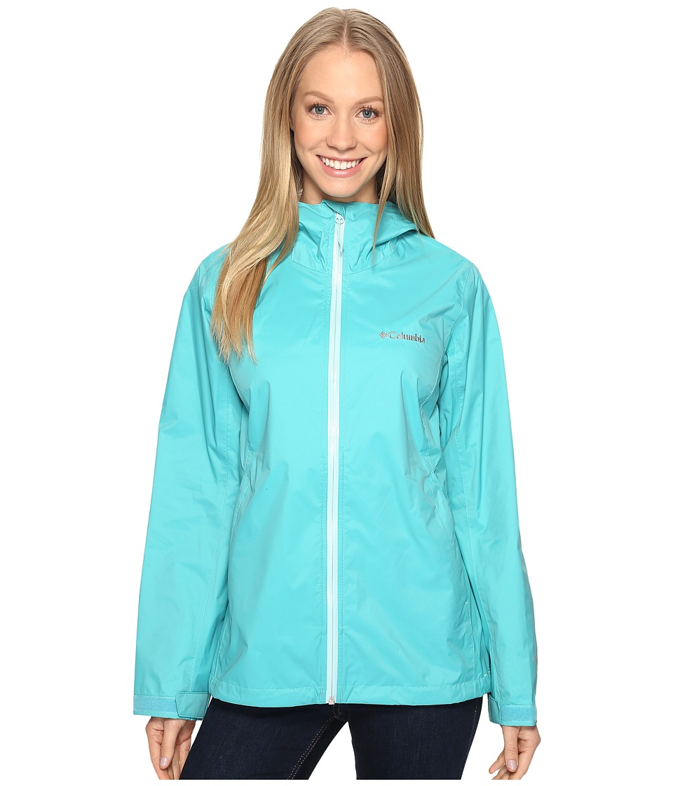 Columbia EvaPOURationtm Jacket (Miami/Ocean Water Zip) Women
