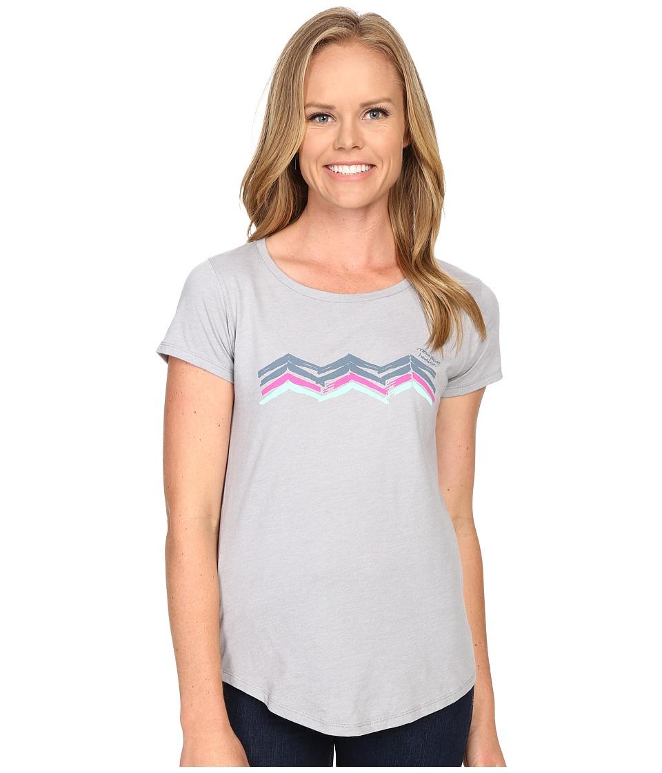 Mountain Hardwear Abstract Mountain Short Sleeve Tee Heather Grey Womens Short Sleeve Pullover