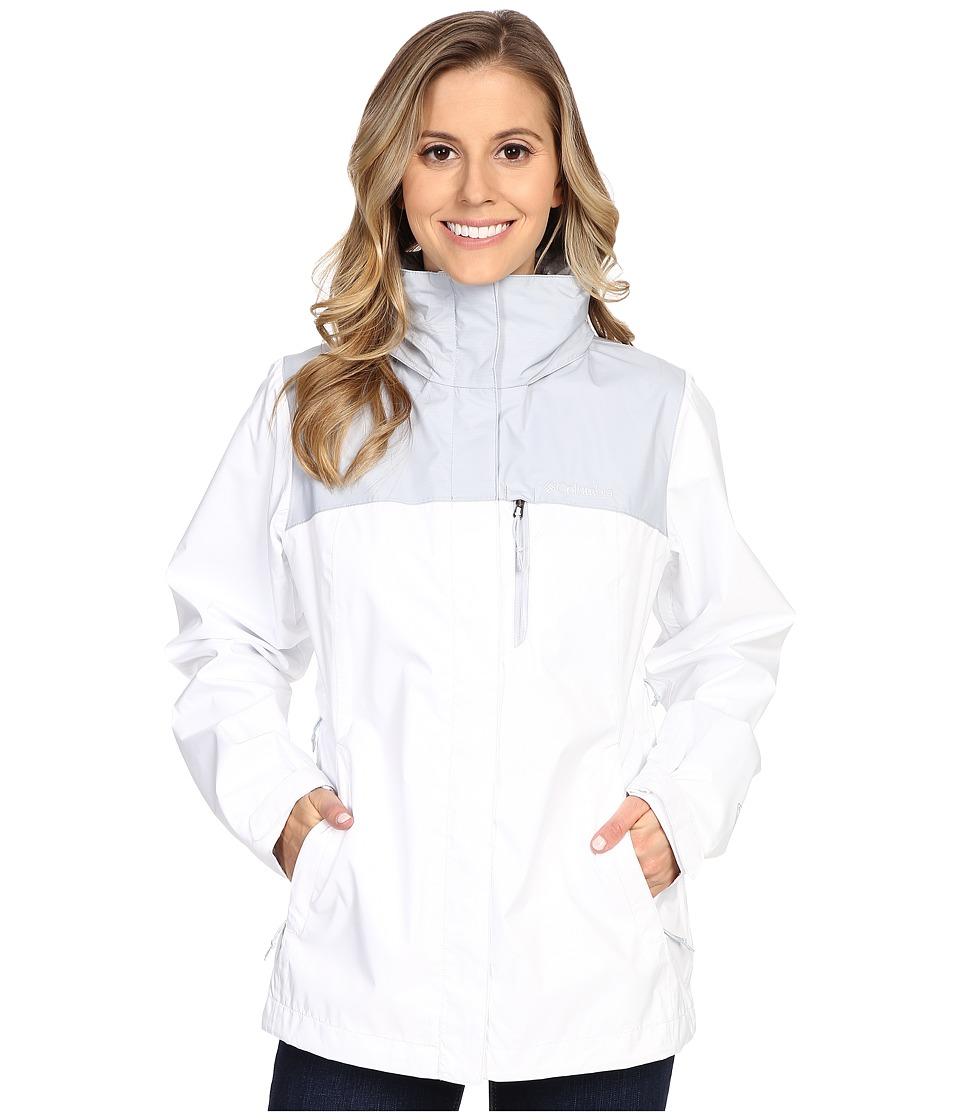 Columbia Pourationtm Jacket (White/Cirrus Grey) Women