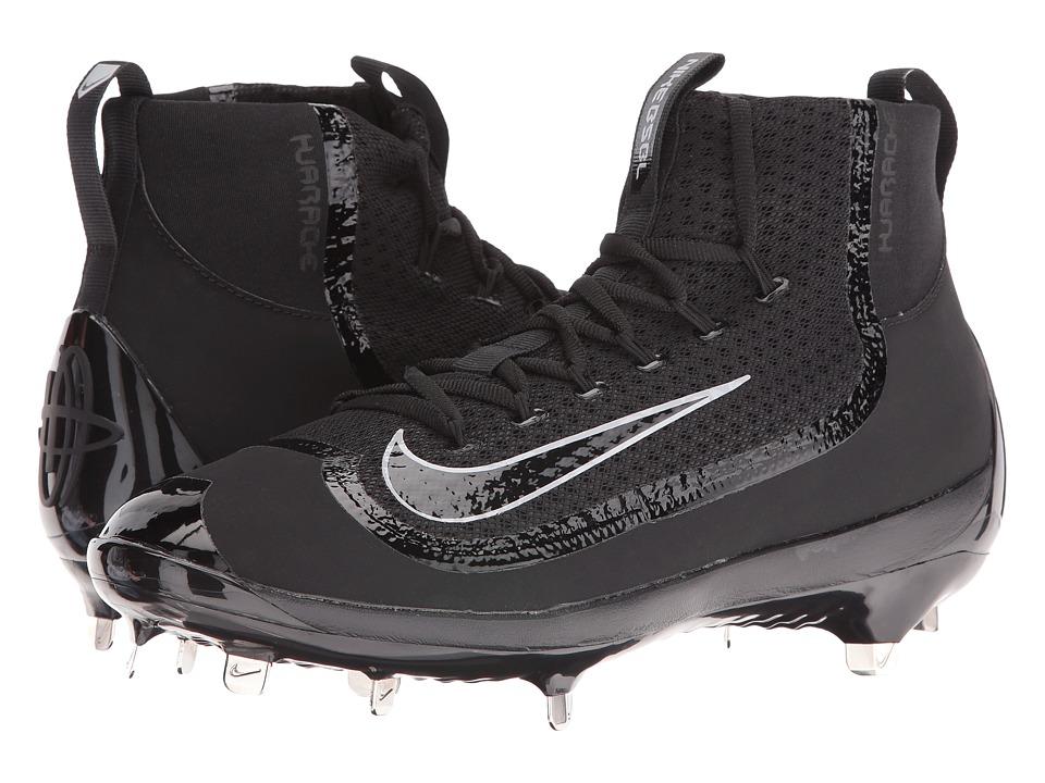 Nike - Air Huarache 2KFilth Elite Mid (Black/Wolf Grey/Black) Mens Cleated Shoes