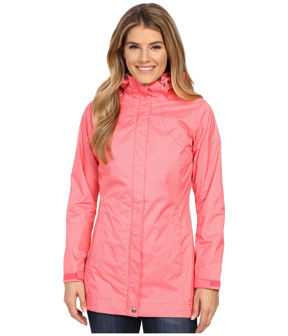 Columbia Splash A Little Rain Jacket (Bright Geranium Lace Print) Women